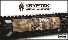 Kryptek-Highlander - Grip PVC Custom KeyMod Rail Cover