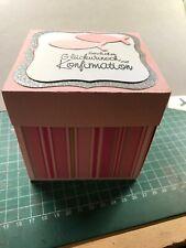 Geldgeschenk zur Konfirmation Explosionsbox Handarbeit Geschenkschachtel