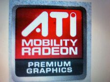 ATI MOBILITY RADEON PREMIUM GRAPHICS Sticker 16mmx16.6mm USA Seller lot of 10