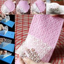 Silicone Lace Mould Sugar Craft Fondant Mat Pad Cake Decorating Baking Tool