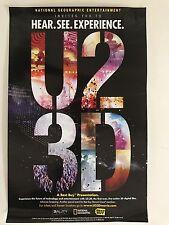 """U2 3D Original Movie Poster 11""""x17"""" Fantastic Condition Very Rare"""