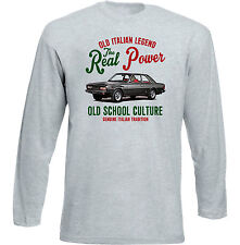 VINTAGE ITALIAN CAR FIAT 130 COUPE-NUOVO T-shirt di cotone