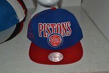 NBA Detroit Pistons Mitchell & Ness Snapback Baseball Cap – One Size / Adjustabl