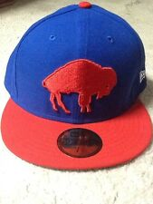 New Era Buffalo Bills Throwback NFL Fitted Hat Blue 7 1/2