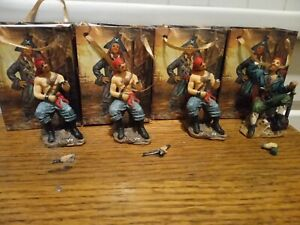 4 x Pirate figure in a bag  mariner sailor figurine collectable small broken
