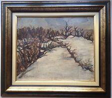 Tableau expressionniste Paysage de neige dans le goût Franz PRIKING Huile signée