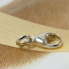 A414 Karabinerhaken Ersatz Verschluss 11 mm für Kette Armband Charm 925 Silber