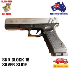 SKD GLOCK 18 SILVER GEL BLASTER 100% AUS STOCK*FREE AMMO + EXPRESS SHIPPING*