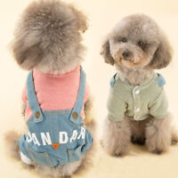 Dog Hoodie Jeans Warm Coat Sweater Clothes Pet Puppy Cat Jacket Costume Jumper