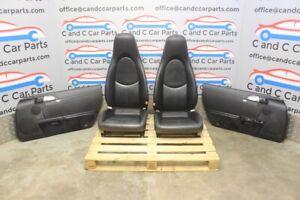 PORSCHE 987 BOXSTER S SEATS & DOOR CARDS ELECTRIC ADJUST