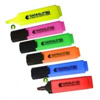 6 Pack of Dataglo Premium Quality Highlighter Pens - 6 Assorted Colours