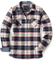 CQR Women's Plaid Flannel Shirt, All-Cotton Soft Brushed Button Down Shirts