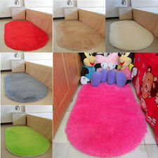 Non-slip Bedroom Floor Soft Memory Plush Shaggy Mat Bath Bathroom Plain Foam Rug