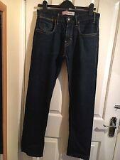Levis 504 Straight Mens Jeans Denim Dark Blue 30x32