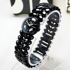 Orla Kiely Laurel Ladies Black Enamel 20mm Bracelet Watch OK4024 New RRP £150