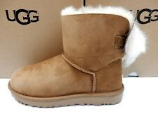 UGG WOMENS BOOTS MINI FLUFF BOW CHESTNUT SIZE 8