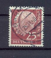 Bund 186 y Heuss-Lumo 25 Pfg. Vollstempel geprüft HD Schlegel (ts133)
