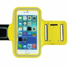 "Universal Adjustable Armband Case Holder For Mobiles UpTo 5.2"" Yellow (Large)"