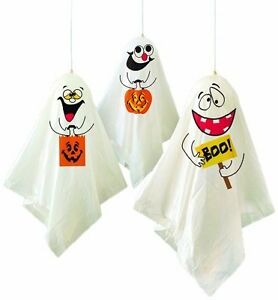 Scary Halloween Decorations Party Pack of 3 Hanging Spooky Ghost Decorations
