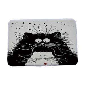 Cartoon Black White Cat Printed Door Mats  Mat Living Room Bedroom  Home Rugs