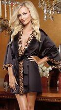 Leopard-lady-lingerie-sexy-pajamas-bathrobe Mini Dress For S-M 3A-40