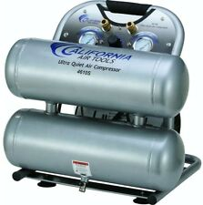 California Air Tools 4.6 Gal. Electric Portable Air Compressor Quiet Twin Tank