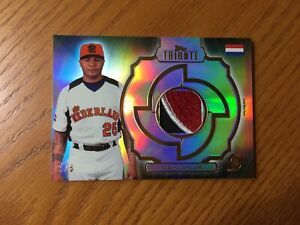 Andruw Jones 2013 Topps Tribute WBC Prime Game Worn Patch Relic BLACK /5