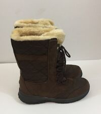 Itasca Boots womens 7 Maggie Water Resist Brown Winter Snow New  suede fleece