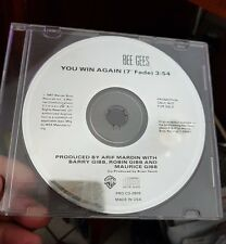 "Bee Gees You Win Again Promo 7"" Fade  (disc only)- MUSIC SINGLE CD - FREE POST"