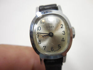 Vintage Timex Great Britain Wrist Watch Womens For Parts Repair Stainless