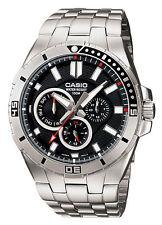 Casio MTD1060D-1A Men's Stainless Steel Multifunction Black Dial 100M Watch