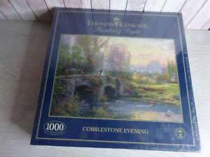 GIBSONS 1000 PIECE Jigsaw Puzzle - Cobblestone Evening by Thomas Kinkade sealed