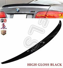 BMW 3 SERIES E92 COUPE M PERFORMANCE 05+ GLOSS BLACK TRUNK BOOT LID LIP SPOILER