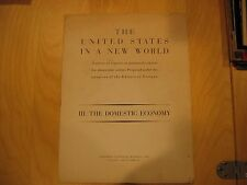 1942 FORTUNE MAGAZINE Supplement The US IN A NEW WORLD Domestic Economy