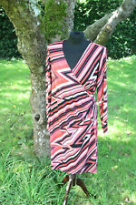 George Coral Striped Jersey Dress Size 16