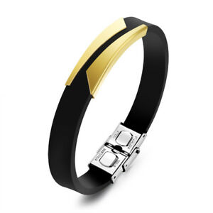 Men's Bracelets Unique Cutting Hollow Design Adjustable Stainless Steel Jewelry