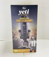 Blue Yeti Blackout & Playerunknown's Battlegrounds Professional USB Microphone