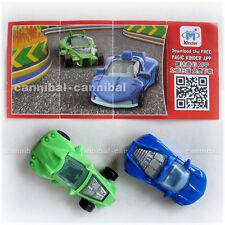 ~ KINDER Joy - Surprise Eggs Toy - FF155A, FF156 - set of 2 RACING CARs