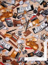 Wallet Keys Cell Pocket Watch Toss Cotton Fabric Kanvas Studio Man Cave - Yard