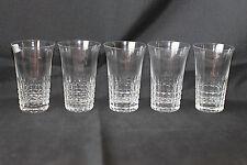 Série de cinq verres cristal gravés à apéritif ou soda