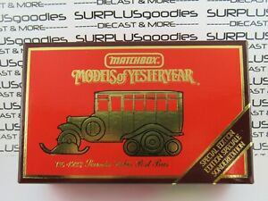 MATCHBOX 1:43 Scale 1987 Models of Yesteryear 1923 SCANIA-VABIS POST BUS Y16