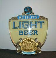 Vintage Schlitz Light Beer Bar Sign 1976 Front only Man Cave