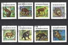 Animaux faune Vietnam du nord (138) série complète de 8 timbres oblitérés
