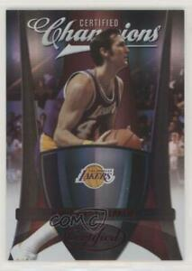 2009-10 Certified Champions Red /250 Jerry West #8 HOF