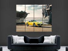 Cartel De Coche Chevrolet Corvette amarillo Stingray velocidad de coche de carreras Arte Enorme Grande