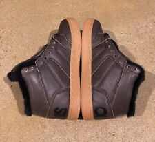 Osiris Convoy Mid Shearling Size 5 US Brown Black BMX DC MOTO Skate Shoes
