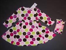 NWT Gymboree Dots of Fun 12-18 Months Polka Dot Velour Dress & Tights