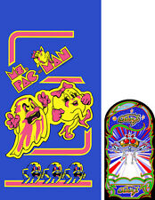 Ms Pacman- Galaga 20th Reunion sideart set combo: 2 pc set
