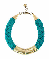 Otrera Women's Unique Braided Circular Stacked Necklace, Aqua Blue