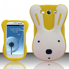 For Samsung Galaxy III 3 Rubber SILICONE Skin Gel Case Phone Cover Yellow Rabbit